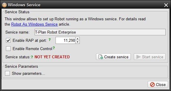 winservice - T-Plan Robot Documentation